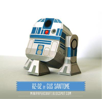 스타워즈 R2-D2 종이모형 만들기