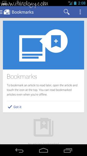 Google Play Newsstand bookmarks