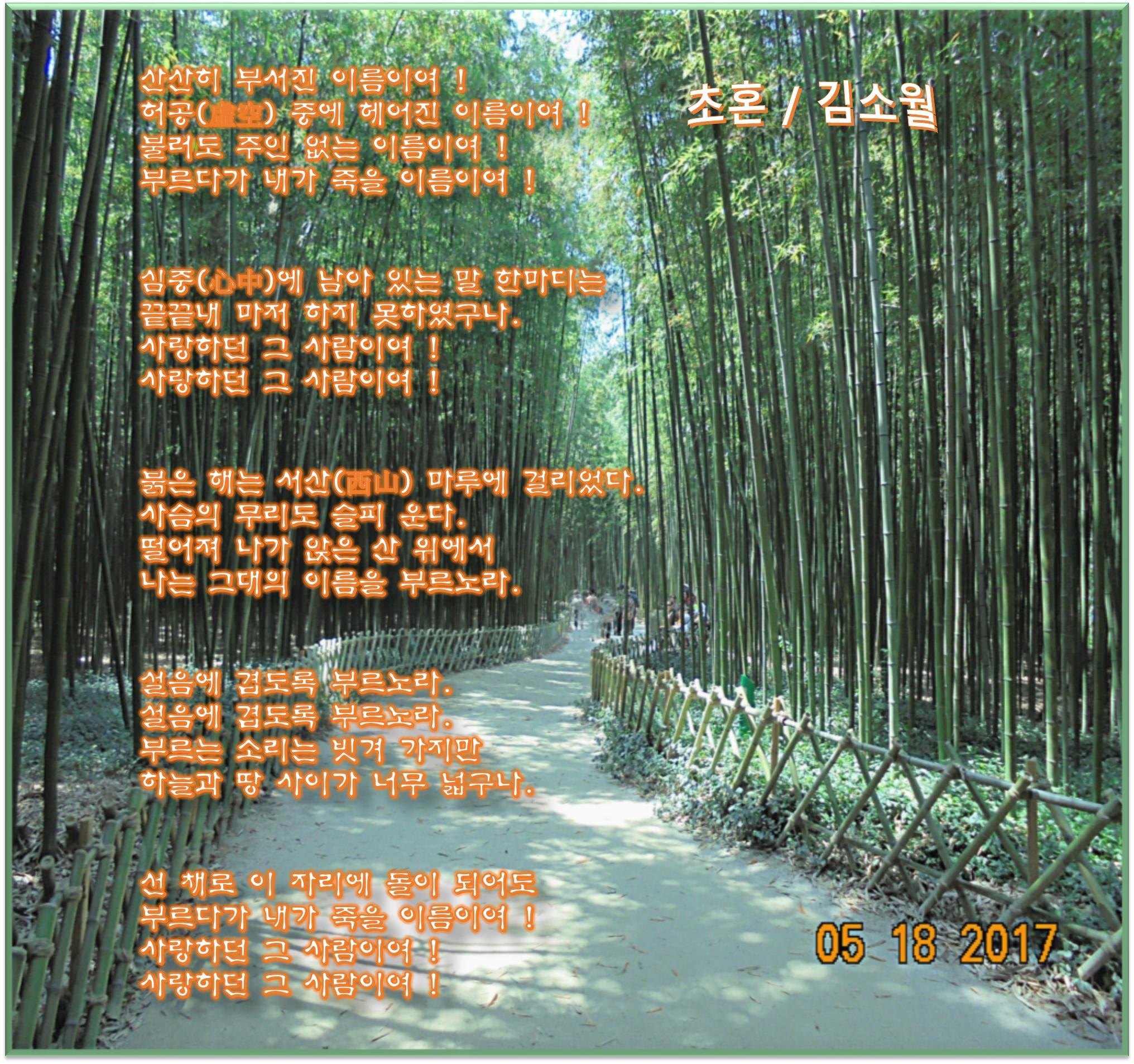 이 글은 파워포인트에서 만든 이미지입니다. 초혼 / 김소월