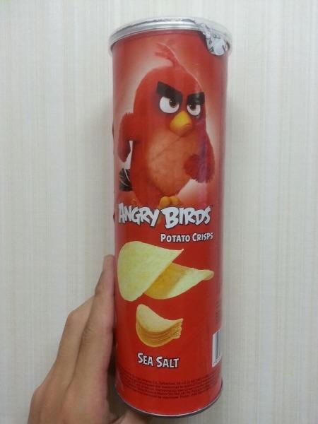 말레이시아 감자칩 - 앵그리버드 솔트 Angry birds potato crisps sea salt