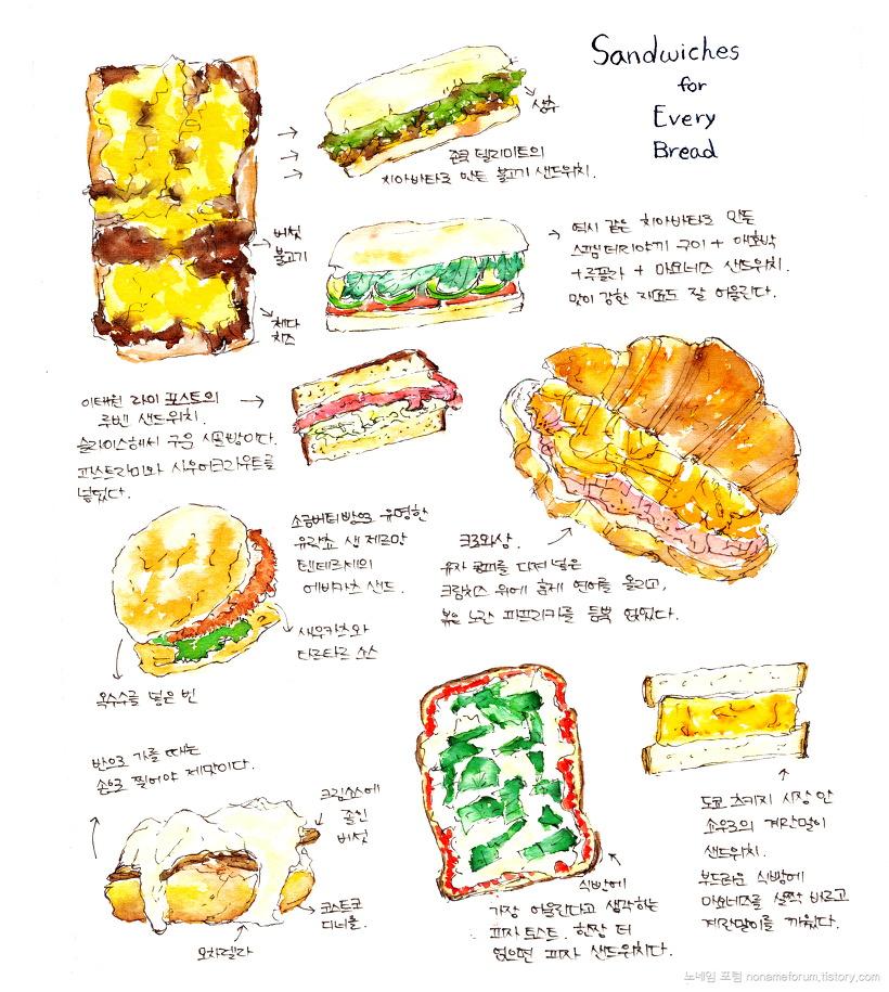 빵과 샌드위치의 마리아주
