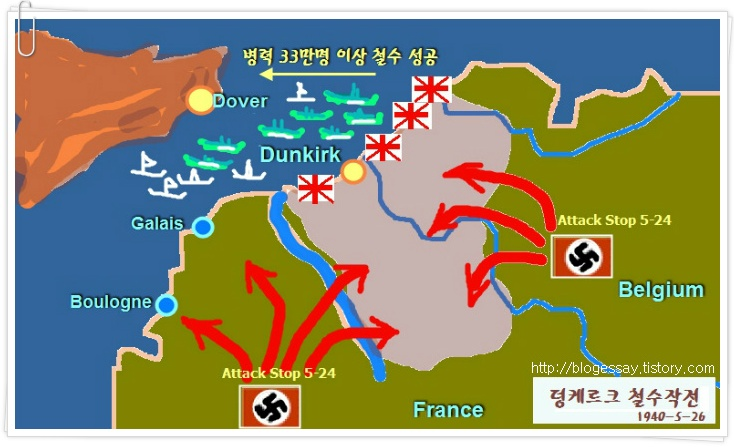 The map of Dunkirk war