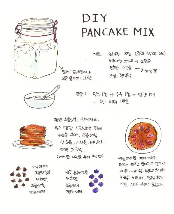 DIY 팬케이크 믹스 만들기