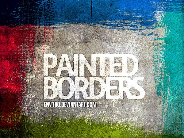 9 가지 무료 포토샵 페인트 브러쉬 - 9 Free Photoshop Painted Border Brushes