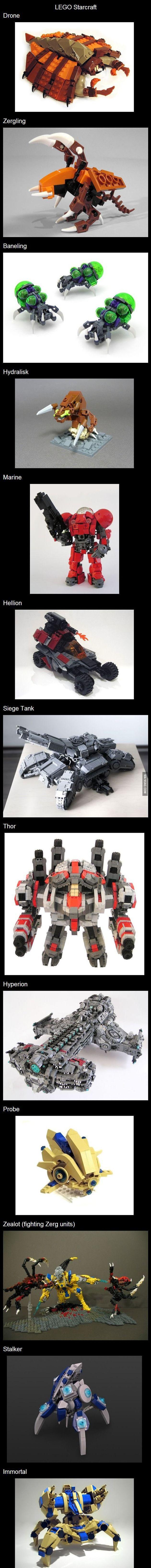 레고로 만든 스타크래프트 유닛