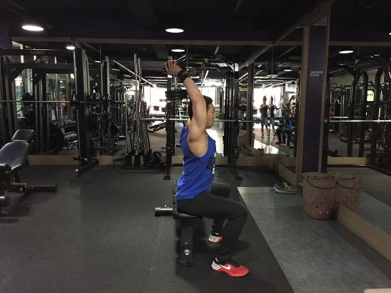 오버해드 덤벨 트라이셉스 익스텐션(Overhead Dumbbell Triceps Extension)