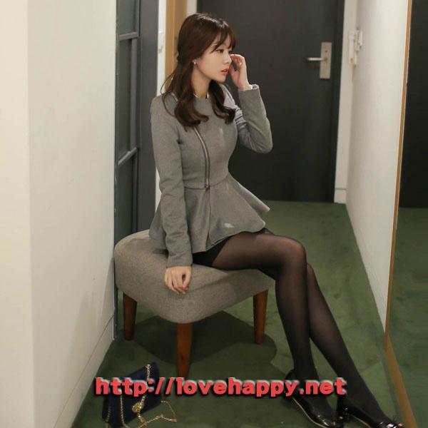 여성패션 자켓 사선지퍼 클로징으로 스타일리시 006