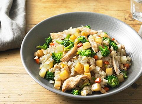 [지엘 다이어트 요리] 브로콜리와 표고버섯이 주인공! 닭가슴살 볶음밥