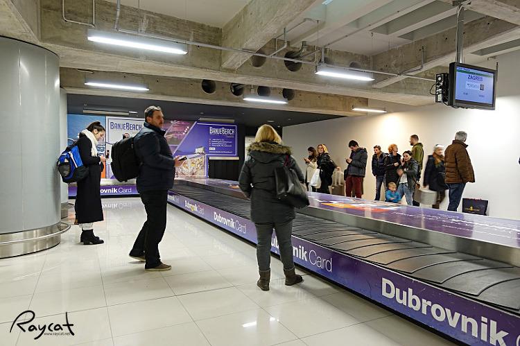 두브로브니크 공항 수하물 찾는 곳