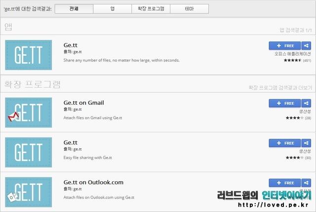 구글 크롬 확장 프로그램 ge.tt