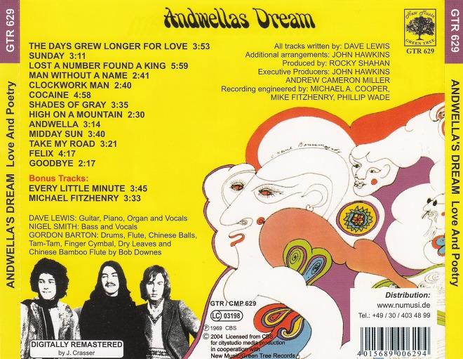 Andwella's Dream* Andwellas Dream - Love And Poetry