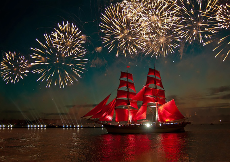 Festive night beautiful fireworks HD picture 05
