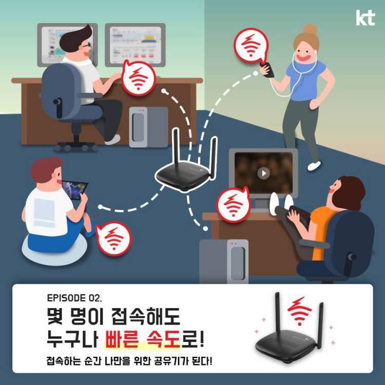 kt, 기가, 와이파이, 홈, 웨이브2, wave2