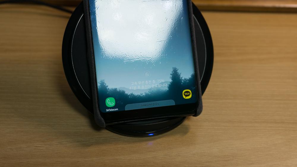 삼성 갤럭시 노트8 정품 알칸타라 케이스 무선 충전
