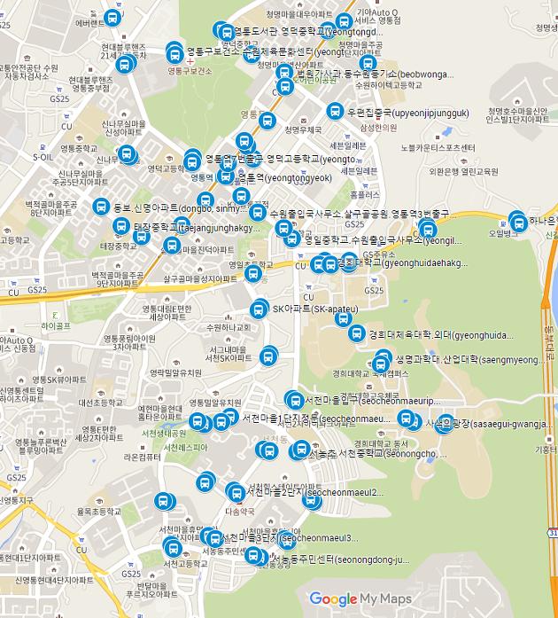 bus stops near Kyung Hee University Global Campus
