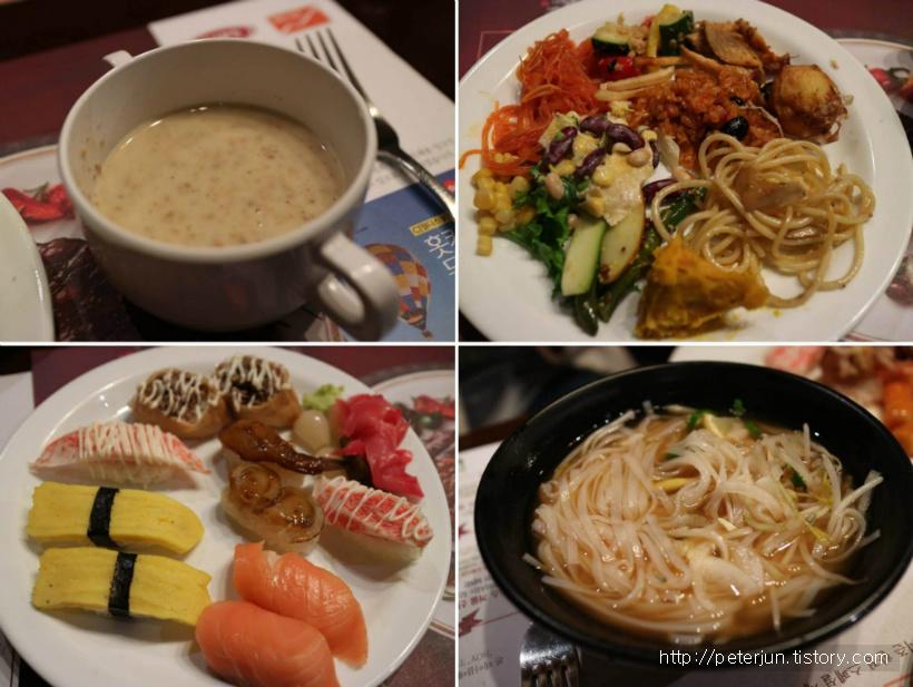 천안 빕스 음식들