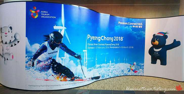 2018 평창 올림픽 홍보 간판입니다
