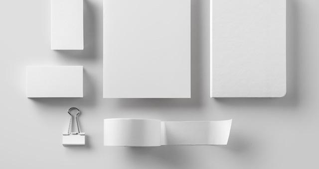 기본 서류 브랜딩 목업  Basic Stationery Branding psd파일