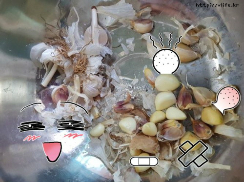 마늘껍질 벗기는법