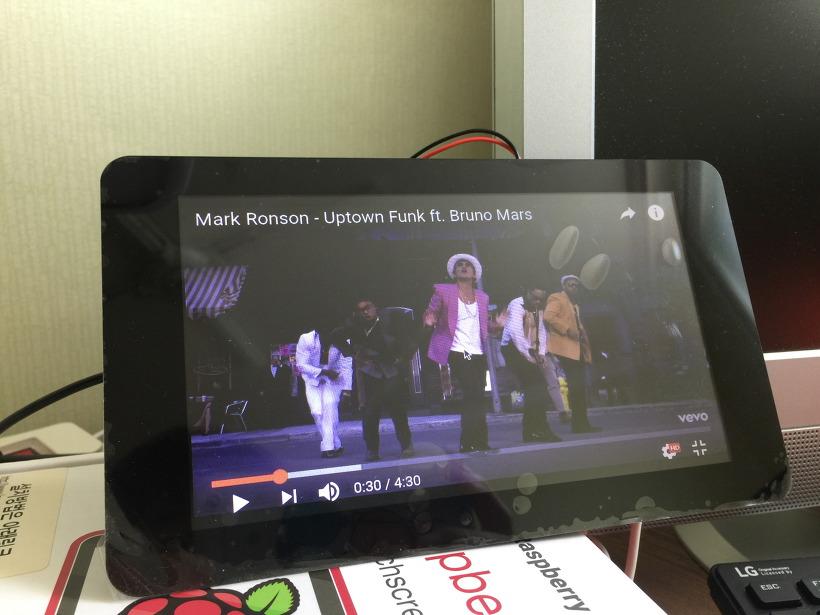 라즈베리파이 공식 7인치 터치스크린 LCD 모니터 동영상