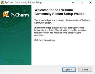 PyCharm 설치 실행 파이썬 개발
