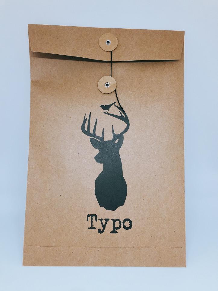 타이포 다이어리 종이 포장 봉투