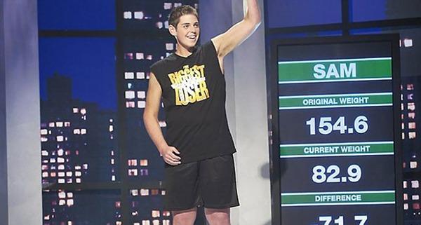 다이어트 프로그램에서 우승한 샘 로운