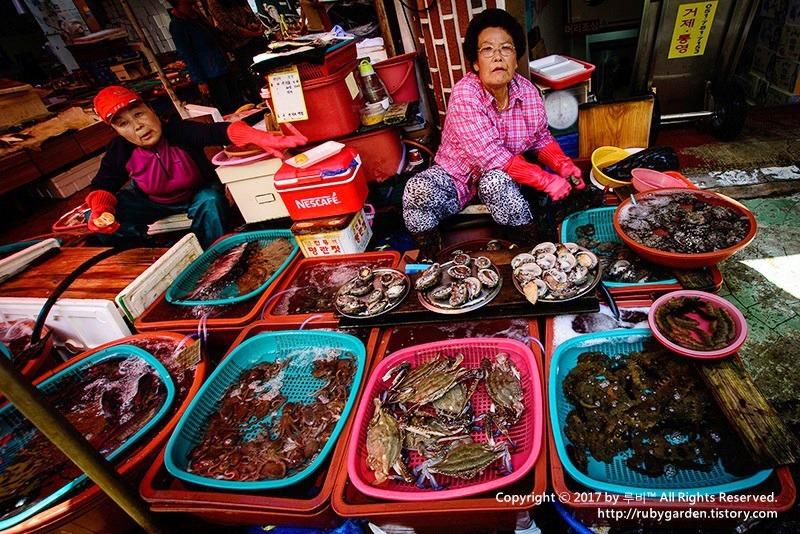 통영 여행 / 싱싱한 해산물의 천국 통영 중앙 시장