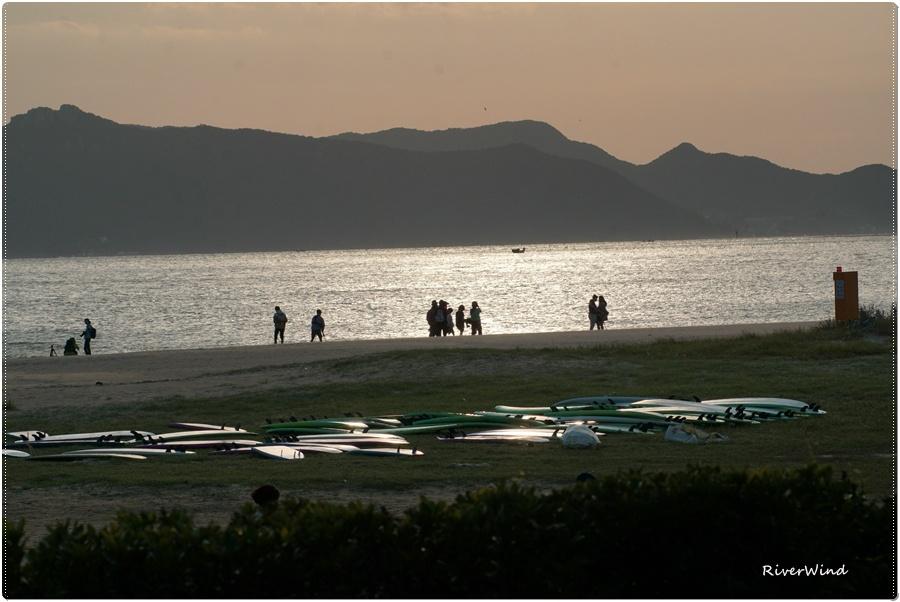 다대포 바닷가의 일몰