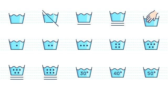 무료 세탁관련 아이콘 세트 AI EPS 모음