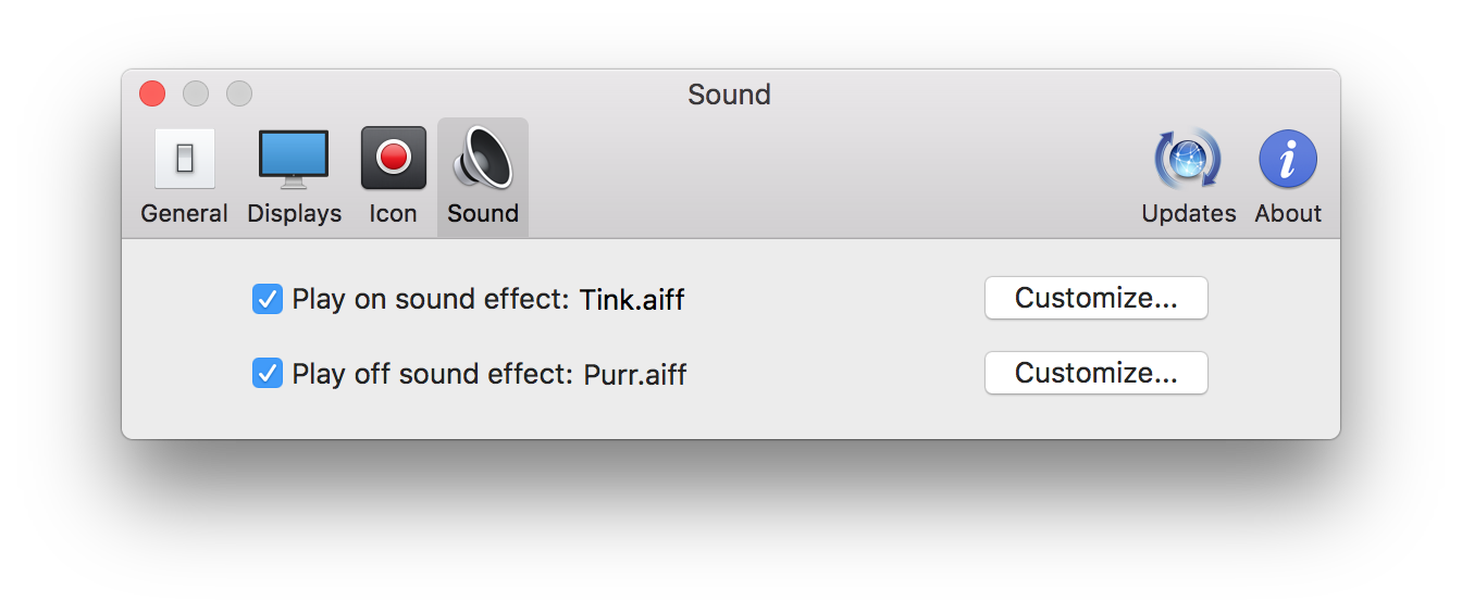 Captin 설정 부분 - Sound