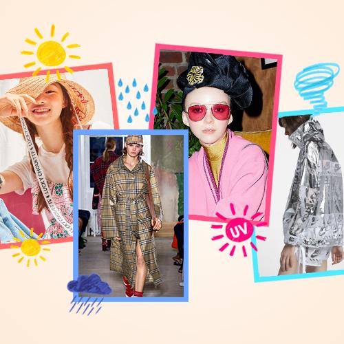 달력을 넘기며 체크하는 패션 스타일 #모자 #선글라스 #바람막이