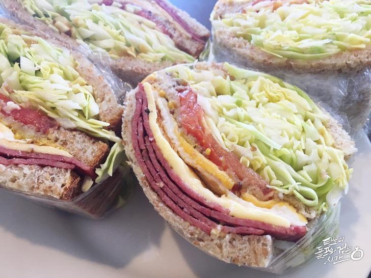 샌드위치 점심식사 런치박스 브런치 아침식사