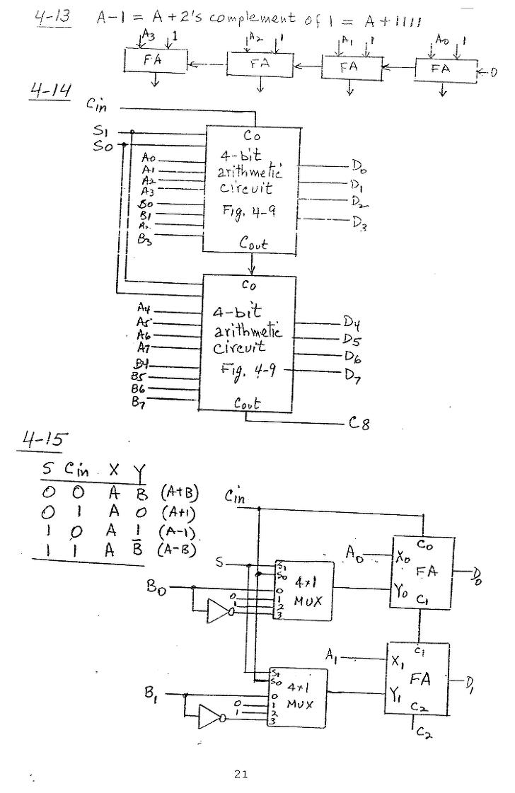 컴퓨터구조 연습문제, 모리스 마노 챕터4 21